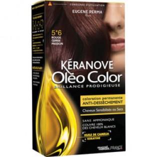 Перманентная крем-краска для волос Keranove Oleo Color №5*6 (светлый шатен красный)