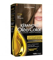 Keranove Крем-краска для волос Oleo Color №7*34 (золотисто-медный блондин)