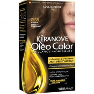 Перманентная крем-краска для волос Keranove Oleo Color №7*35 (блондин золотисто-красный)