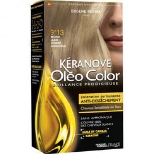 Перманентная крем-краска для волос Keranove Oleo Color №9*13 (светлый блондин пепельный)