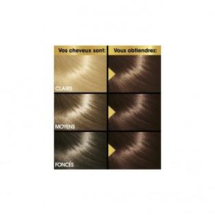 Перманентная крем-краска для волос Keranove Oleo Color №4*35 (шатен золотисто-красный)