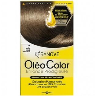 Перманентная крем-краска для волос Keranove Oleo Color №7 (темный блондин)