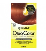 Keranove Крем-краска для волос Oleo Color №7*4 (блондин медный)