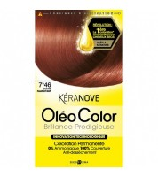 Keranove Крем-краска для волос Oleo Color №7*46 (блондин медно-красный)