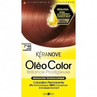 Перманентная крем-краска для волос Keranove Oleo Color №7*46 (блондин медно-красный)