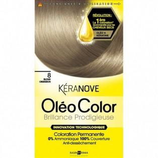 Перманентная крем-краска для волос Keranove Oleo Color №8 (блондин)