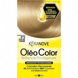 Перманентная крем-краска для волос Keranove Oleo Color №9*3 (очень светлый блондин)