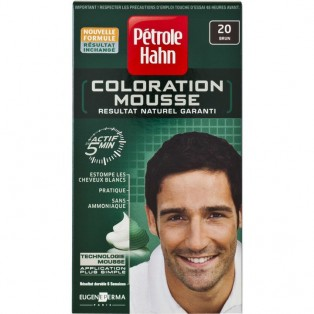 Petrole Hahn Краска-мусс для волос мужская №20 (брюнет) 46ml